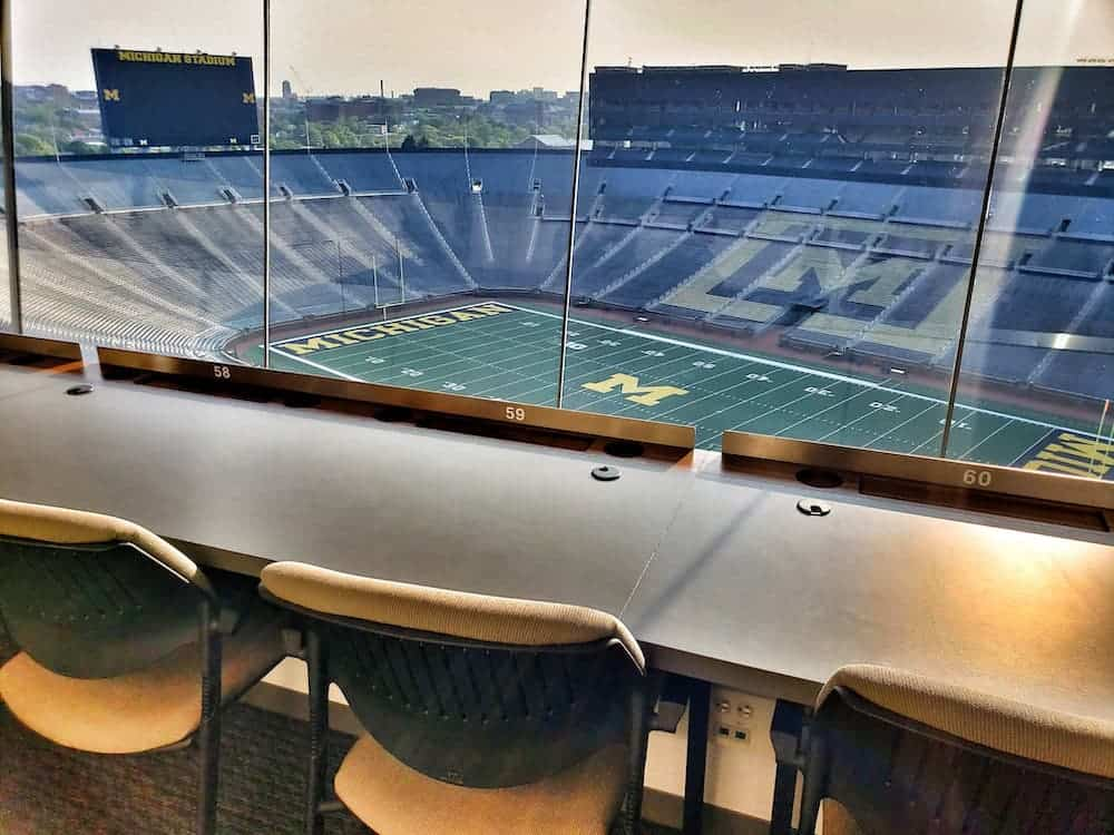 The big house as seen from the press box. - Family Vacations U.S.