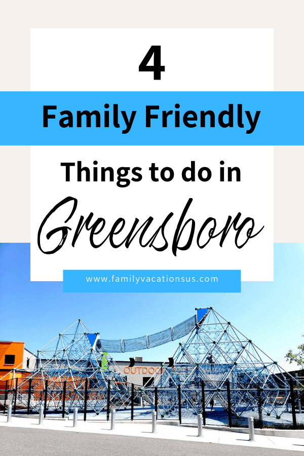 Going to Greensboro North Carolina for a sporting event or a weekend getaway and not sure what to do? Take a look at these 4 ideas the are family friendly fun!   #greensboro #northcarolina #familytravel