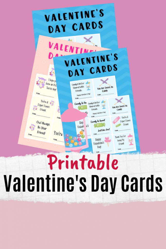 Looking for some easy Valentine's Day printable cards that you can send to school with your kids? These free classroom Valentine's Day cards are perfect for that!