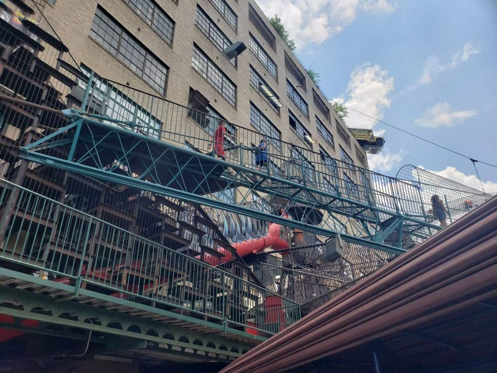 The outside play structure of the City Museum in St. Louis - St. Louis on under $90 per day.