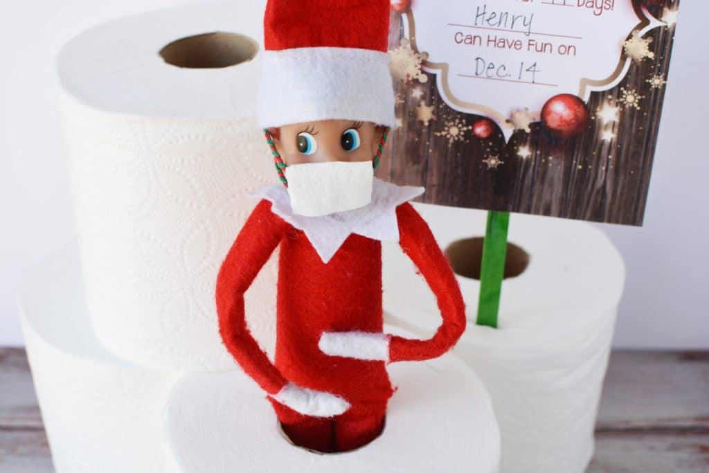 how to make a mask for your elf on the shelf