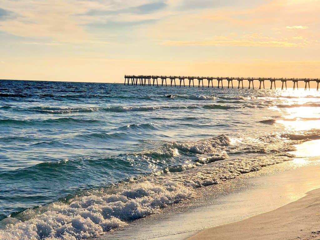 Beautiful views of the Pensacola Beach Fishing Pier