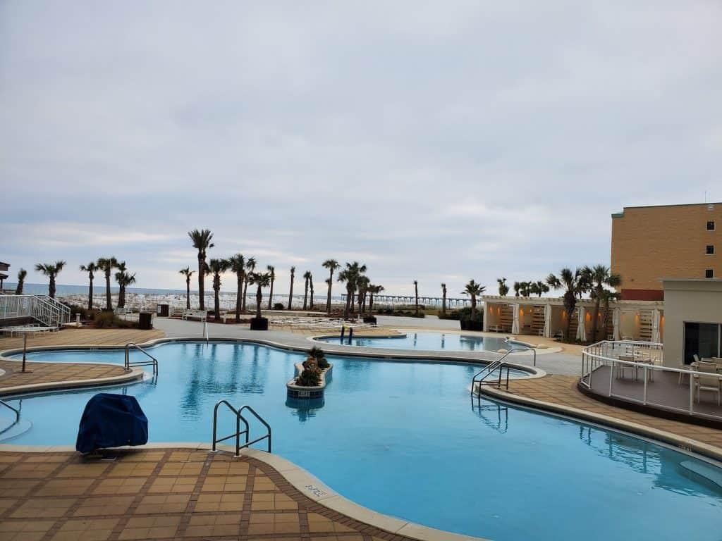 Pools at the Hilton Pensacola Beach
